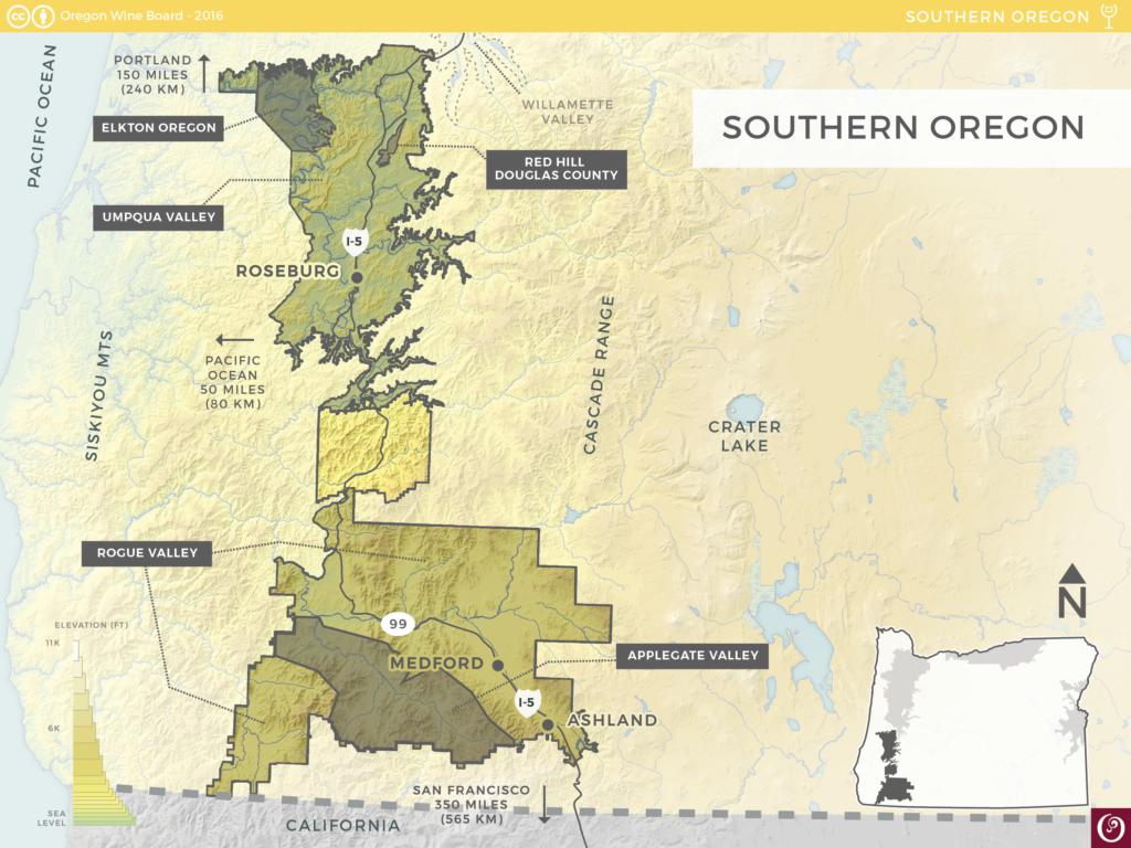 established  planted area  acres ( ha) predominant soilsmarine sedimentary alluvial gravels volcanic predominant varietiespinot noir . southern oregon ava  oregon wine resource studio